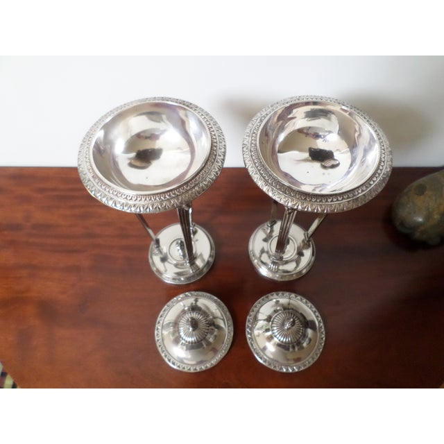 Bombay Company Regency Style Silver-Plate Sweetmeat Dishes - a Pair For Sale In Philadelphia - Image 6 of 13