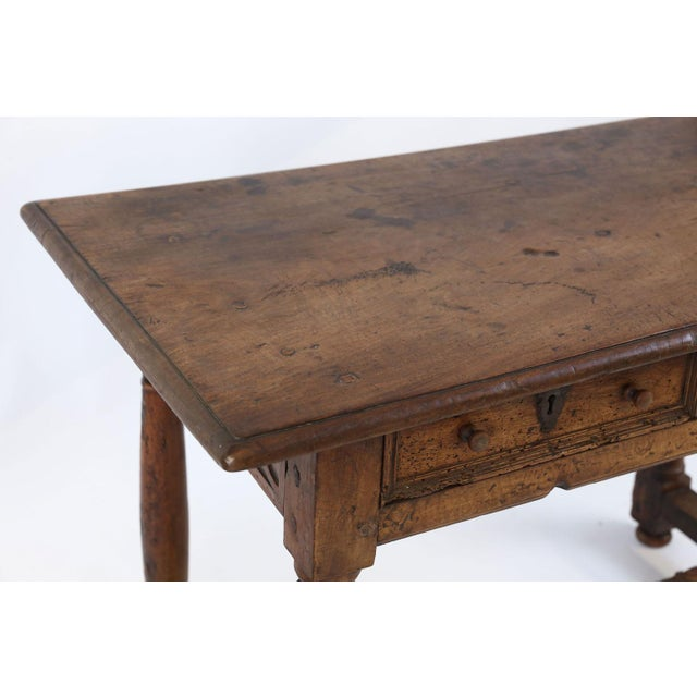 Brown Early French Walnut Table For Sale - Image 8 of 13