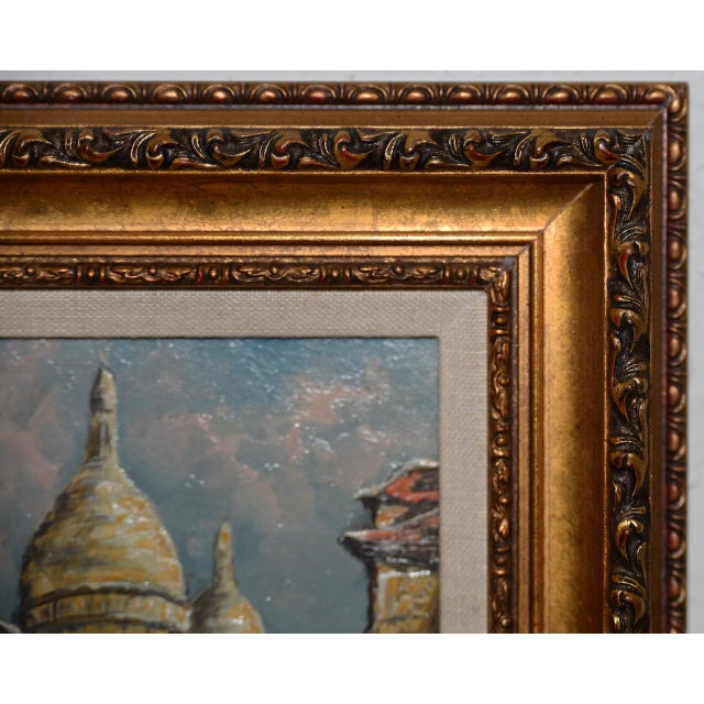 "Raymond Besse ""Sacré-Cœur, Paris"" Original Oil Painting C.1950s For Sale - Image 4 of 7"