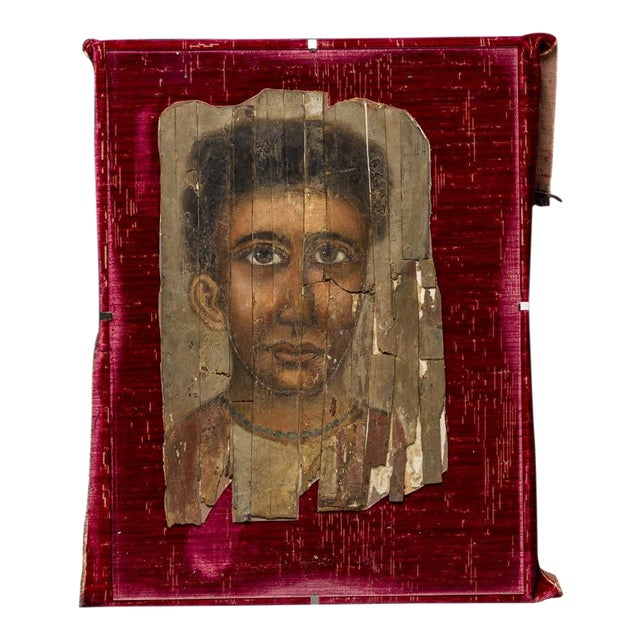 Roman Period Egyptian Mummy Portrait Depicting a Young Man For Sale