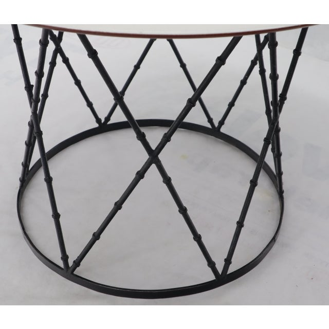 Enameled Top Faux Bamboo Base Mid-Century Modern Dining Dinette Table For Sale - Image 6 of 11