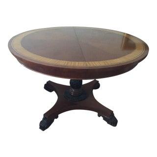 Baker Round Mahogany Dinner Table