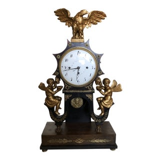 Early Antique Austrian Grand Sonnerie Portico Clock For Sale