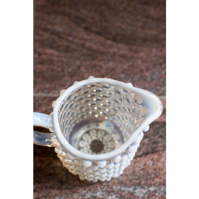 Vintage Small Hobnail Pitcher For Sale - Image 4 of 6