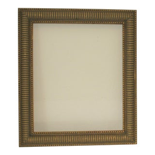 Vintage Contemporary Museum Quality Golden Brown Wood Frame With Raised Detail For Sale