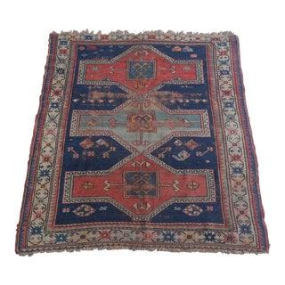 """Antique Caucasian Kazak distressed - 3'5""""x4'6"""""""