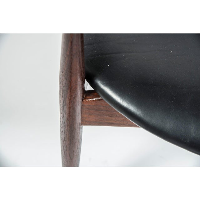 Adrian Pearsall Craft Associates Mid Century Black Leather 950 Chairs - a Pair For Sale - Image 12 of 13