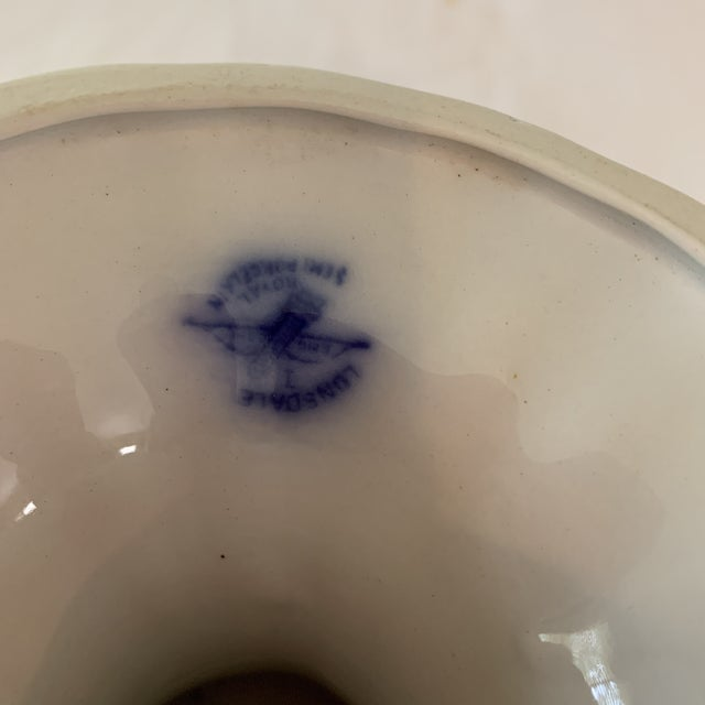 Flow Blue Compote Dish For Sale - Image 4 of 8