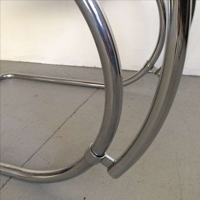 Mies Van Der Rohe Mr Chrome Armless Chair For Sale - Image 9 of 9