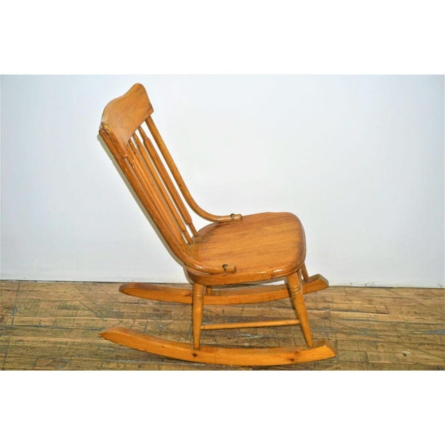 Vintage Wood Rocking Chair - Image 5 of 8