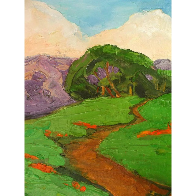 Lynne French California Landscape Poppy Hills Original Painting For Sale - Image 4 of 6