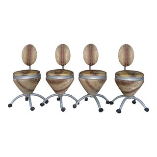 1980s Modern Dining Chairs - Set of 4 For Sale