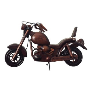 Vintage Mid Century Modern Rosewood Motocycle For Sale