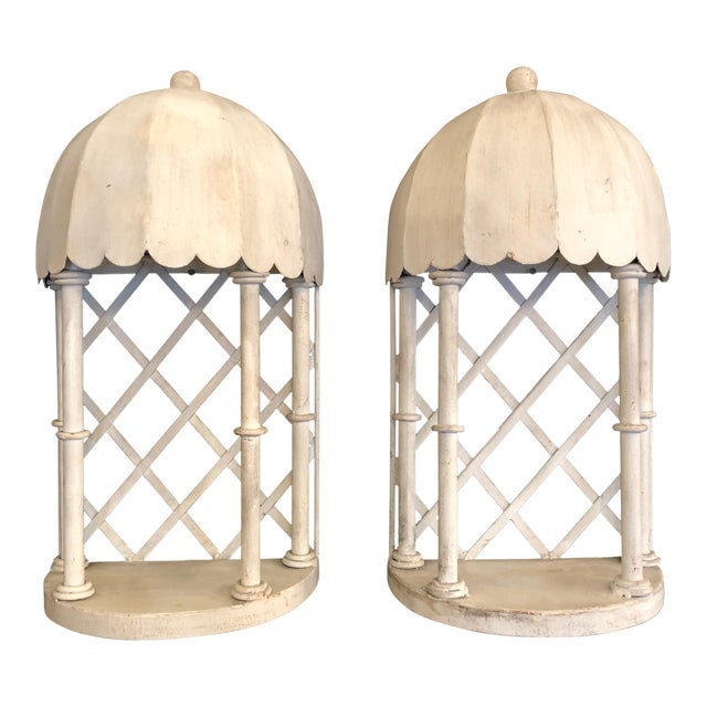 1960s French Iron & Tole Wall Brackets Sconces - a Pair For Sale