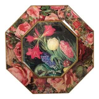 Durwin Rice Floral Decoupage Plate For Sale