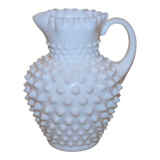 Fenton Hobnail Milk Glass Pitcher For Sale