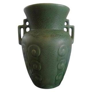 Stylized Art Deco Pottery Vase For Sale