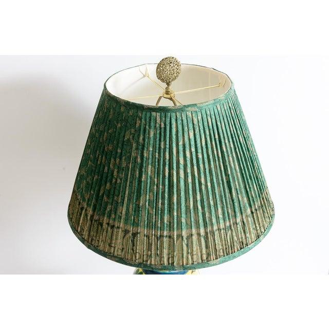 Japanese Kutani Porcelain Vase Table Lamp With Custom Shade, C. 1940 For Sale - Image 4 of 13
