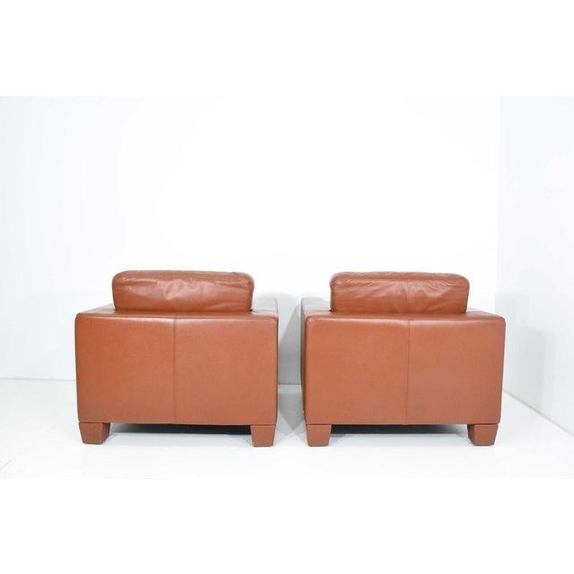 De Sede De Sede Leather Lounge Chairs- A Pair For Sale - Image 4 of 10