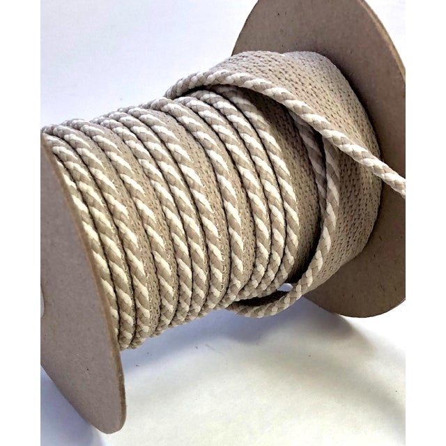 """Braided 1/4"""" Indoor/Outdoor Cord in White/Sand For Sale In New York - Image 6 of 9"""