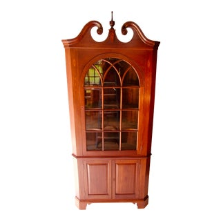 1930's Mahogany Corner Cabinet For Sale