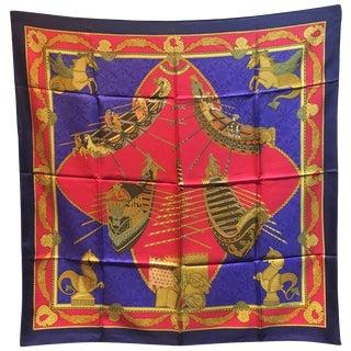 Hermes Vintage Les Bisson De Venise Silk Scarf, Circa 1980s For Sale