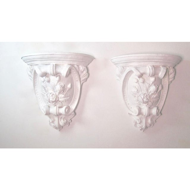 Antique French Plaster Wall Shelves - a Pair For Sale - Image 9 of 9