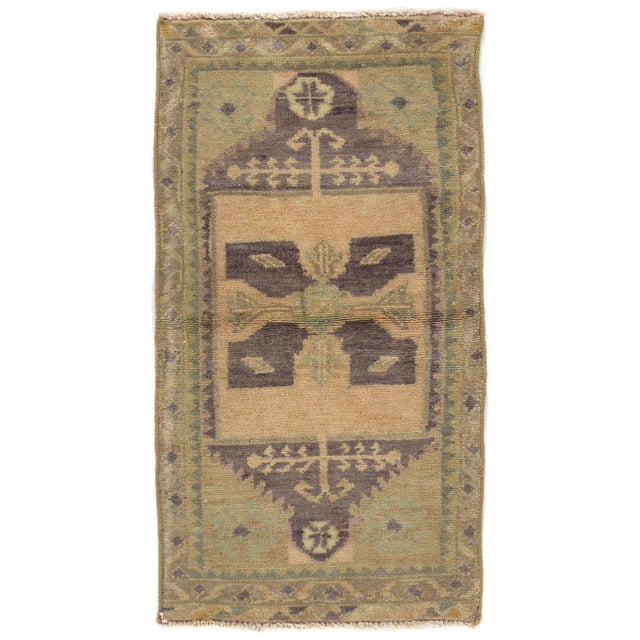 """Boho Chic Turkish Yastik Hand Knotted Wool Rug - 1'7"""" X 3'1"""" For Sale - Image 3 of 3"""