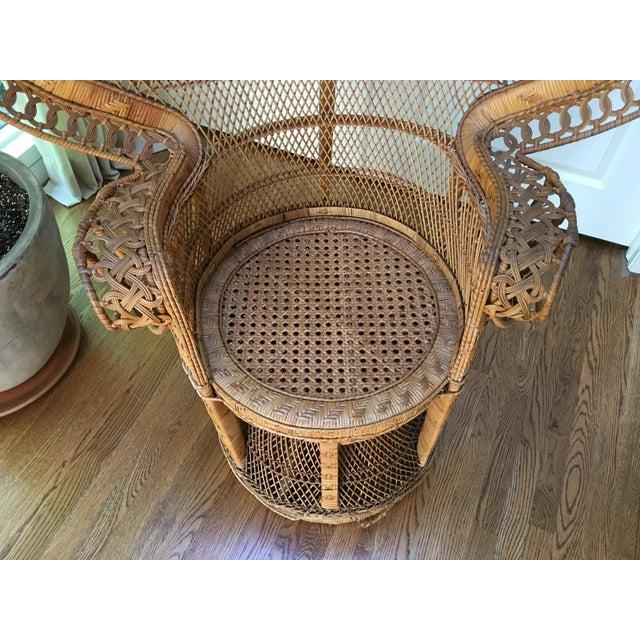 Vintage Emmanuel Wicker Peacock Chair For Sale - Image 10 of 13