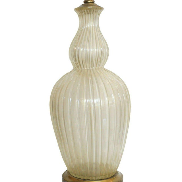 Mid-Century Modern Large Handblown Murano Glass Table Lamp in Barovier Style For Sale - Image 3 of 7