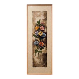 Decorative Art Lithograph of Flowers For Sale