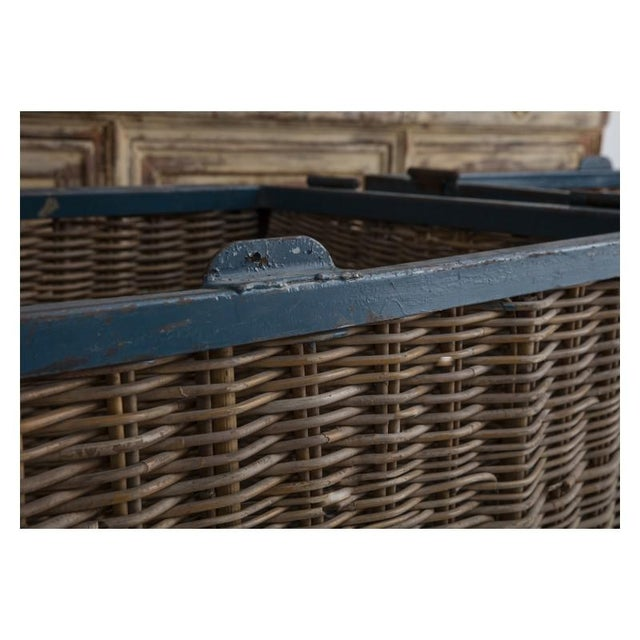 Pair of Large French Industrial Wicker Baskets For Sale In Wichita - Image 6 of 11