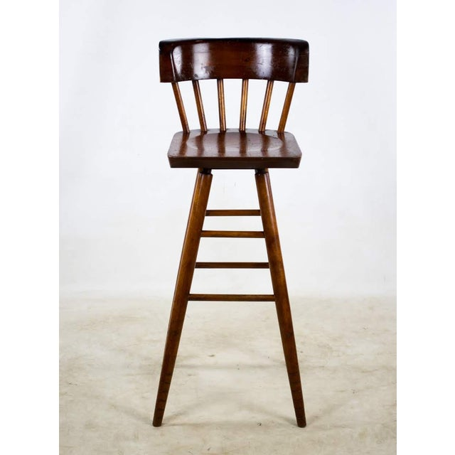 Bring a bit of class to your wet bar with these late 19th c. English Traditional style bar stools. They feature a rounded...