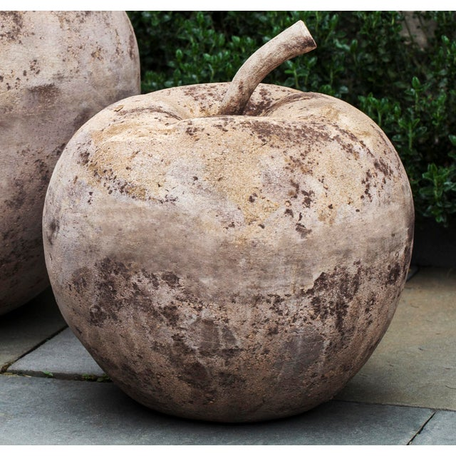 A rustic garden ornament in a decorative apple shape. Also available in a larger size.