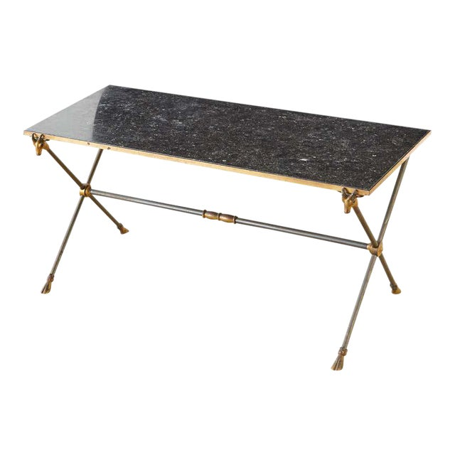 Maison Ramsay Marble Rams Head Cocktail Table For Sale