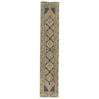 Vintage Turkish Oushak Carpet Runner With Modern Style, 02'06 X 12'06