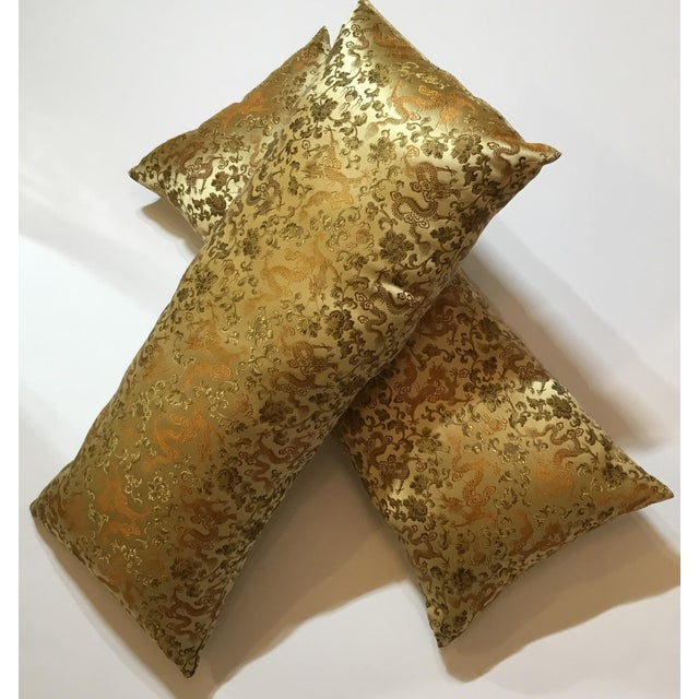 Chinese Silk Pillows - A Pair - Image 10 of 12