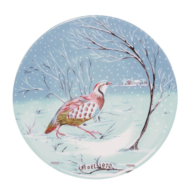 "Haviland Limoges ""A Partridge in a Pear Tree"" Plate For Sale"