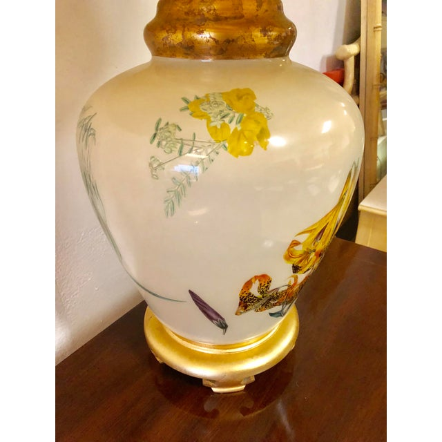 Chinoiserie Chinoiserie Style Floral & Botanical Table Lamp For Sale - Image 3 of 8