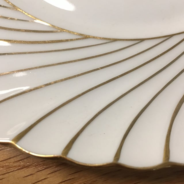 Waldershof plate with gold detailing . No scratches or chips .
