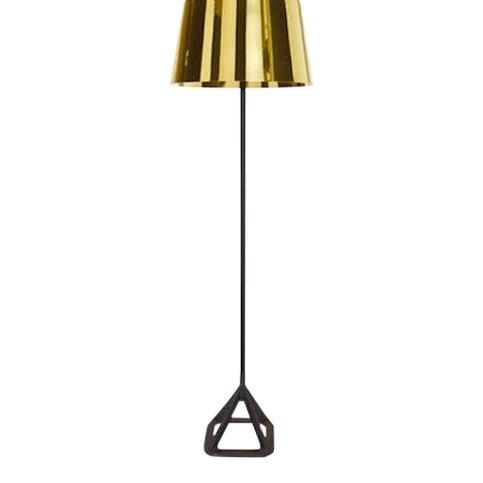 Tom Dixon Base Floor Light - Polished Brass For Sale