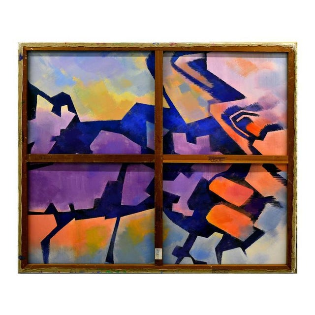 Vivid abstract depicting the John Day Painted Desert in Oregon during spring by Erle Loran (American, 1905-1999). Another...