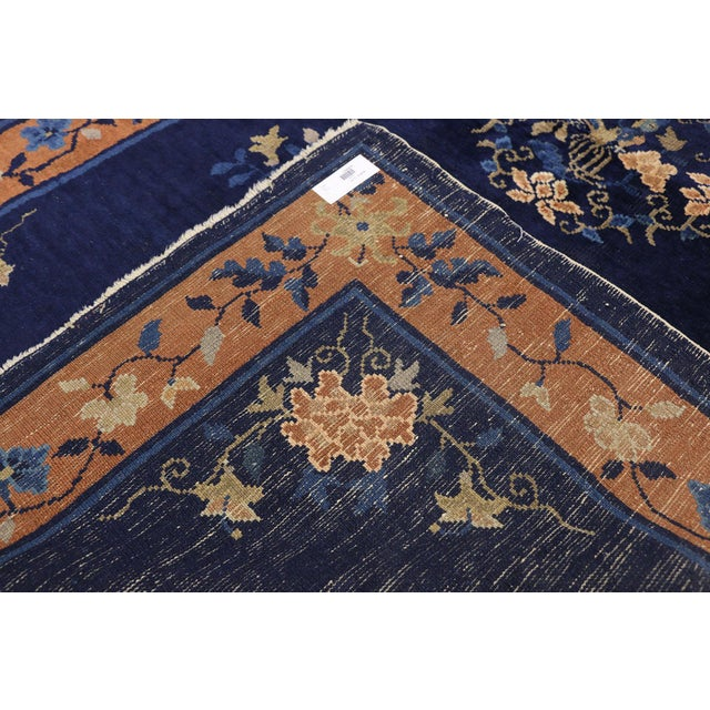1910s Early 20th Century Antique Chinese Peking Accent Rug - 3′11″ × 6′8″ For Sale - Image 5 of 10