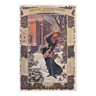 Set of 4 Art Nouveau Calendar Chromolithographs by Eugene Grasset