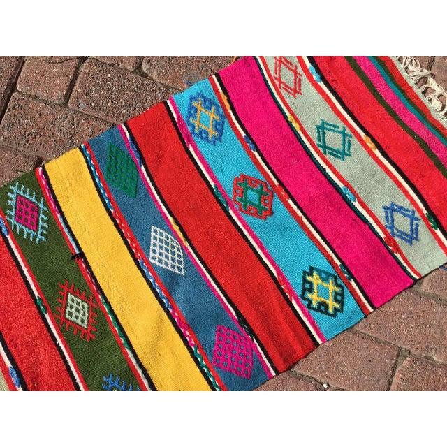 1960s Colorful Turkish Kilim Rug For Sale - Image 5 of 9