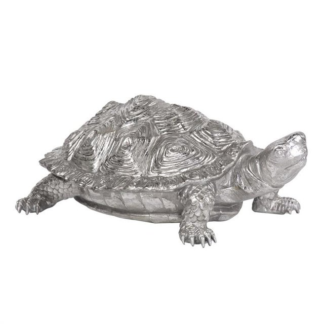 2020s Kenneth Ludwig Chicago Turtle Figurine Textured Pewter For Sale - Image 5 of 5