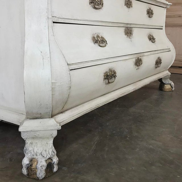 18th Century Dutch Painted Wardrobe For Sale - Image 9 of 13