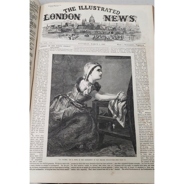 Two Volumes Illustrated London News Books 861 and 1867 - Set of 2 For Sale - Image 9 of 13