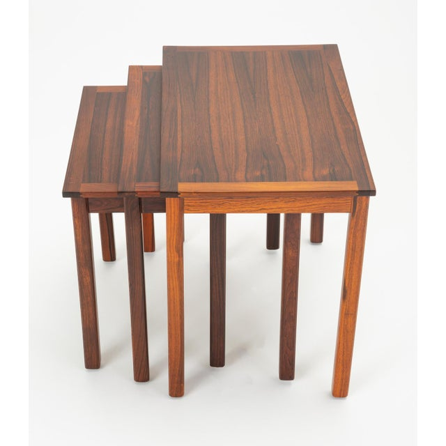 Danish Modern Rosewood Nesting Tables - Set of 3 For Sale - Image 12 of 12