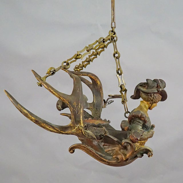 Metal Antique Lüsterweibchen of a Victorian Lady For Sale - Image 7 of 11